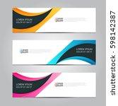 vector design banner background. | Shutterstock .eps vector #598142387