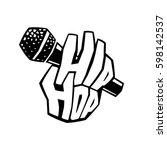 hip hop music cool graffiti... | Shutterstock .eps vector #598142537