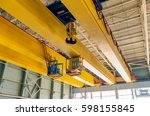 factory overhead crane on a... | Shutterstock . vector #598155845