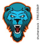 angry lion head mascot logo | Shutterstock .eps vector #598155869