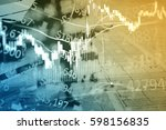business graph background ... | Shutterstock . vector #598156835