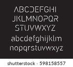 thin font. futuristic font....   Shutterstock .eps vector #598158557