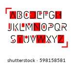 thin font. futuristic font....   Shutterstock .eps vector #598158581