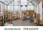 daylight art studio interior... | Shutterstock . vector #598160309