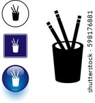 pencils in pot symbol sign and... | Shutterstock .eps vector #598176881