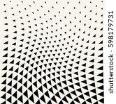 geometric triangle halftone... | Shutterstock .eps vector #598179731