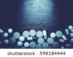 drug prescription for treatment ... | Shutterstock . vector #598184444