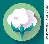 flat cotton icon vector. white... | Shutterstock .eps vector #598194461