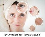 beauty concept   skin care ... | Shutterstock . vector #598195655