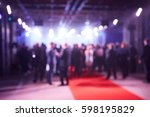 abstract blurred people in... | Shutterstock . vector #598195829