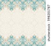 seamless border raster ornate... | Shutterstock . vector #598201787