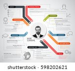 vector original cv   resume... | Shutterstock .eps vector #598202621