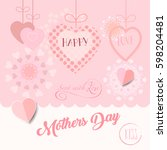 happy mothers day greeting card.... | Shutterstock .eps vector #598204481