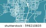 detailed vector map of carson... | Shutterstock .eps vector #598210835