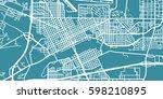 detailed vector map of cheyenne ... | Shutterstock .eps vector #598210895
