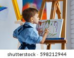 cute  serious and focused ... | Shutterstock . vector #598212944