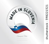 made in slovenia transparent... | Shutterstock .eps vector #598221521