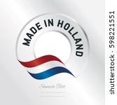 made in holland transparent... | Shutterstock .eps vector #598221551