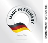 made in germany transparent... | Shutterstock .eps vector #598221581