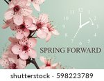 spring forward   daylight... | Shutterstock . vector #598223789