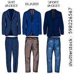 vector illustration of jackets...   Shutterstock .eps vector #598226567