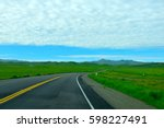 american road california blue... | Shutterstock . vector #598227491