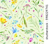 Floral Seamless Pattern Of A...