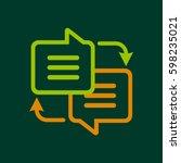 writing translate icon logo.... | Shutterstock .eps vector #598235021
