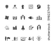 business training icon set | Shutterstock .eps vector #598237499