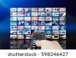 multimedia video wall... | Shutterstock . vector #598246427