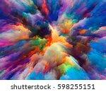 color splash series.... | Shutterstock . vector #598255151