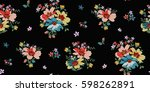 seamless floral pattern in... | Shutterstock .eps vector #598262891