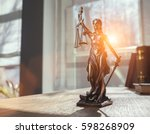 the statue of justice   lady...   Shutterstock . vector #598268909