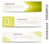 corporate design banners ... | Shutterstock .eps vector #598268915