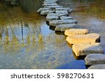 stepping stone   stream of... | Shutterstock . vector #598270631