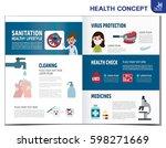 virus protection. infographics... | Shutterstock .eps vector #598271669