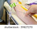 nurse taking blood from a... | Shutterstock . vector #59827270