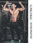handsome caucasian sexy fitness ... | Shutterstock . vector #598278671