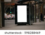blank outdoor bus advertising... | Shutterstock . vector #598288469