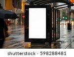 blank outdoor bus advertising...   Shutterstock . vector #598288481