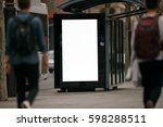 blank outdoor bus advertising... | Shutterstock . vector #598288511