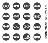 glasses sunglasses icon set... | Shutterstock .eps vector #598291571