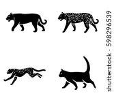 mammals vector icons | Shutterstock .eps vector #598296539