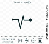 heart beat  cardiogram. pulse... | Shutterstock .eps vector #598300241