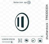 pause button vector icon | Shutterstock .eps vector #598300304