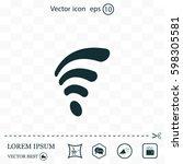wi fi  web icon. vector design | Shutterstock .eps vector #598305581