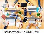 interacting as team for better... | Shutterstock . vector #598312241