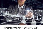 wireless connection futuristic... | Shutterstock . vector #598312931