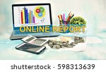 business concept images with... | Shutterstock . vector #598313639