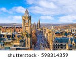 old town edinburgh and... | Shutterstock . vector #598314359